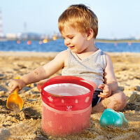 Hape儿童户外玩具便携折叠沙桶套装18M+