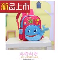 新款儿童包包可爱双肩背女小鱼卡通书包小动物男童潮流文具包