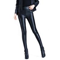 皮裤女外穿长裤秋冬小脚裤修身铅笔裤高腰加绒打底裤黑色裤子