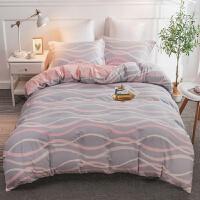 四件套全棉纯棉床上用品双人网红床笠床单被套被子三件套