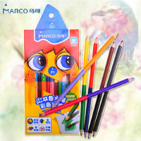 马可24色儿童水溶性彩色铅笔双头双色水溶性彩铅 绘画彩笔涂鸦笔