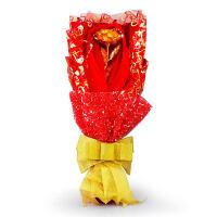 花送女友七夕情人节礼物创意金玫瑰送女生生日礼品