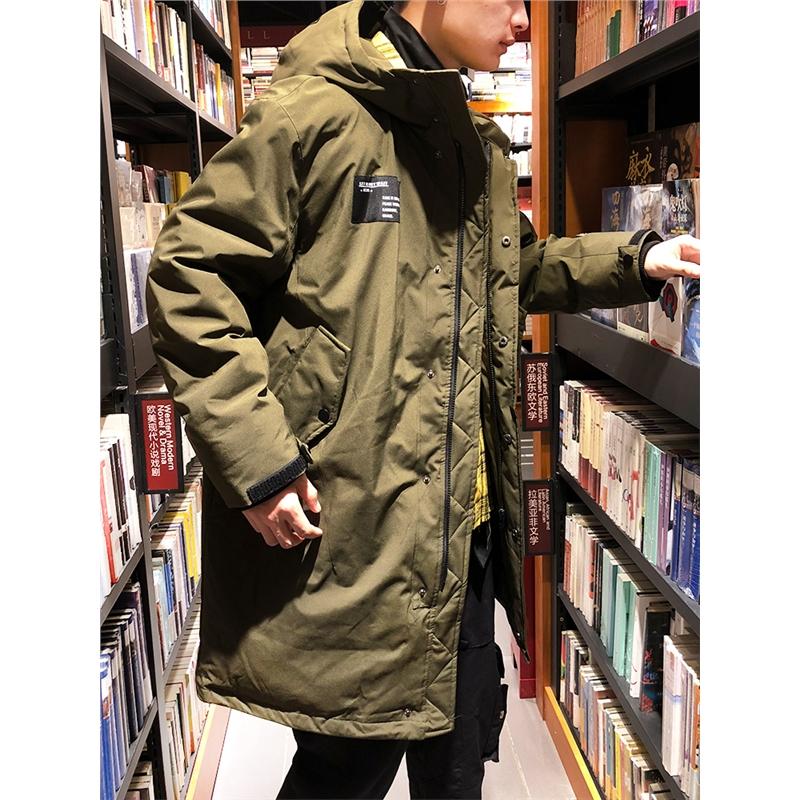 [1折价149.9元]唐狮冬装新款男中长款连帽厚外套宽松国潮ins羽绒服纯色 全场1件1折起叠加300-50,仅限3.3-3.5