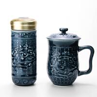 乾唐轩活瓷杯正品势在必得套装创意陶瓷茶水杯子推荐