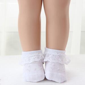 Yin货到付款 Ybeler【2双装】婴儿女童袜子儿童花边袜宝宝短袜夏季网眼袜薄款蕾丝花边公主袜礼盒装