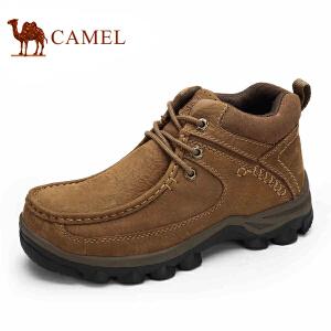 骆驼牌男鞋 秋冬季户外休闲男靴高帮保暖男士休闲短靴子