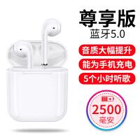 无线蓝牙耳机5.0苹果通用迷你超小跑步运动双耳入耳式X挂耳式适用iPhone7耳塞式 尊享版 标配