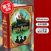 现货 哈利波特与魔法石 2020年新版精装互动书MinaLima工作室设计制作 英文原版 Harry Potter an