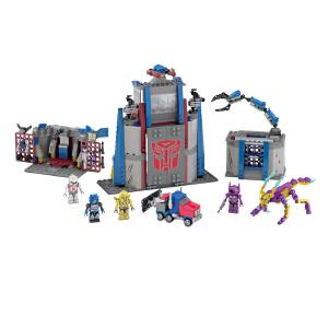 Hasbro 孩之宝 酷垒 变形金刚积木 汽车人指挥中心 儿童益智积木拼插玩具 A5412