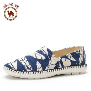 骆驼牌休闲帆布男鞋 秋季舒适套脚男士日常低帮时尚百搭