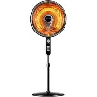电暖器碳纤维落地小太阳取暖器 家用摇头节能电暖扇