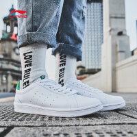 李宁休闲鞋女鞋运动时尚系列蝴蝶结丝带小白鞋运动鞋AGCM224