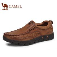 骆驼牌 男鞋 新品舒适便捷套脚休闲男皮鞋耐磨低帮鞋