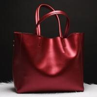 2018新品欧美时尚真皮女包女牛皮包包大容量手提包托特包