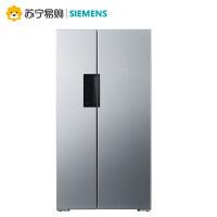 【苏宁易购】SIEMENS/西门子BCD-610W(KA92NV41TI)对开门冰箱家用对门变频风冷
