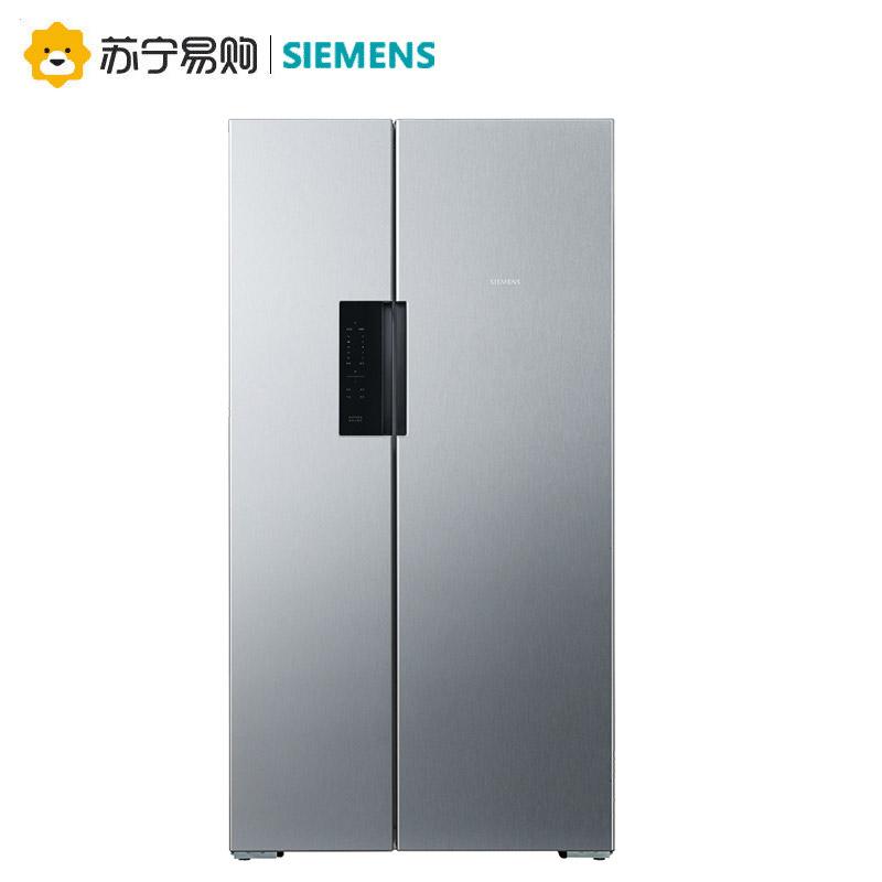 【苏宁易购】SIEMENS/西门子BCD-610W(KA92NV41TI)对开门冰箱家用对门变频风冷610升变频压缩机触屏门把