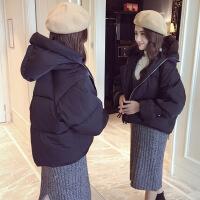冬装面包服女短款ins加厚棉袄2018新款韩版学生棉衣冬季外套 黑色升加厚款 S