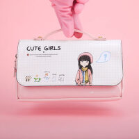 广博 创意大容量笔袋女铅笔盒文具盒韩国简约女生小清新可爱笔袋