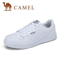 camel 骆驼男鞋 春夏新品复古休闲低帮白色小白鞋运动滑板鞋男