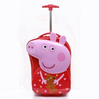 儿童拉杆箱女行李箱宝宝公主旅行箱男18寸3D卡通拖箱可坐骑 18寸(3D发光轮)