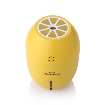 教师节生日礼物 迷你超声波加湿器 雾化器 小型家用便携式桌面家用静音usb空气柠檬加湿器创意礼品  8*8*11.2cm