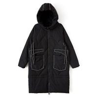 2018秋冬季新款韩版轻薄羽绒服女中长款修身显瘦连帽白鸭绒外套
