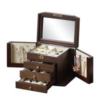 木质化妆盒收纳盒公主手饰品收纳盒耳环珠宝盒结婚礼物