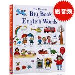 英文原版绘本 the Usborne Big Book of English Words 纸板书 大开本儿童英语单词大