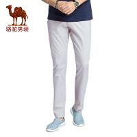 骆驼男装 2017春季新款时尚修身小脚休闲裤商务休闲长裤子青年男