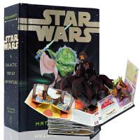 英文原版绘本 Star Wars A Galactic Pop-up Adventure 星球大战立体书 3D弹起艺术
