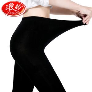 2条浪莎120D连裤袜秋季中厚大码丝袜胖mm加肥加大加长打底裤袜