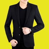 秋季新款西装休闲外套爸爸装男士韩版休闲小西服中年男士修身上衣