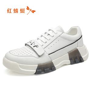 红蜻蜓春秋季男鞋透气运动休闲鞋韩版潮流板鞋男英伦百搭小白鞋子C0191377