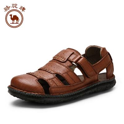 骆驼牌春夏新品户外沙滩鞋 流行男鞋透气舒适凉鞋魔术贴 潮