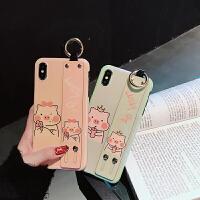 苹果x手机壳iphonexsmax套8plus手腕带iPhone7硅胶6splus少女7p