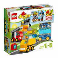 LEGO乐高积木玩具儿童益智拼插得宝系列大颗粒汽车与卡车10816