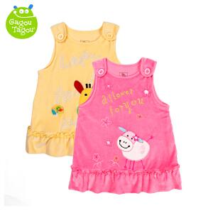 【夏季清仓 低至19元起】Gagou Tagou婴幼儿女宝宝天鹅绒背带裙纯棉内里背心裙子