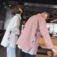 秋冬秋季长袖韩版男士衬衣潮尖领长袖衬衫常规个性工作服衬衫