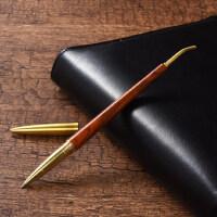大红酸枝中性笔金属黄铜黑檀木质公司签字笔商务礼品定制logo刻字