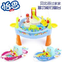 电动 厨房钓鱼玩具3-6岁 钓鱼小孩玩具带音乐灯光益智儿童玩具,