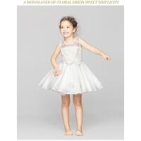 欧美童裙儿童公主蓬蓬裙夏花童礼服 童装女童婚纱裙女童演出服