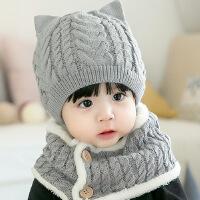 秋冬季保暖宝宝毛线帽0-1-2岁儿童帽潮男女小孩