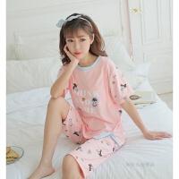 孕妇睡衣纯棉夏季短袖薄款哺乳衣外出加大码月子服产后喂奶衣套装 XX