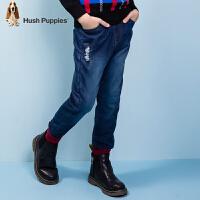 【3件3折:149.7元】暇步士童装男童冬装新款长裤中大童双层牛仔裤儿童加厚裤子