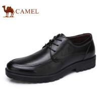 camel 骆驼男鞋 秋季新品男鞋商务休闲皮鞋系带舒适皮鞋子男