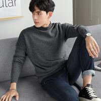 【限时抢购】唐狮男士毛衣男春秋半高领毛衫韩版个性潮流针织衫学生