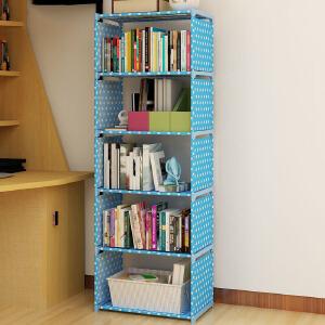 门扉 简易书架 创意韩版学生儿童多层书柜便捷可移动自由组合加固杂物柜家居日用多功能大容量整理置物架子