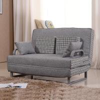 多功能折叠沙发床布艺单双人沙发1.2\1.5米小户型懒人沙发可拆洗