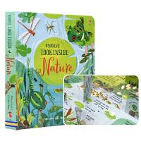 Usborne Look Inside Nature 看里面 自然 儿童科普书籍英语版 百科翻翻书 英文原版图书进口