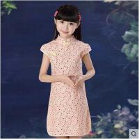 儿童旗袍 女童唐装公主连衣裙 中式童装礼服唐装大童演出服装儿童裙子装支持礼品卡支付